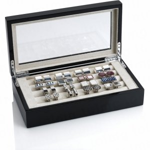 Cuff Link Box with 16 sets of Cuff Links
