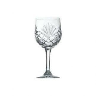 21cl heavy cut crystal goblet