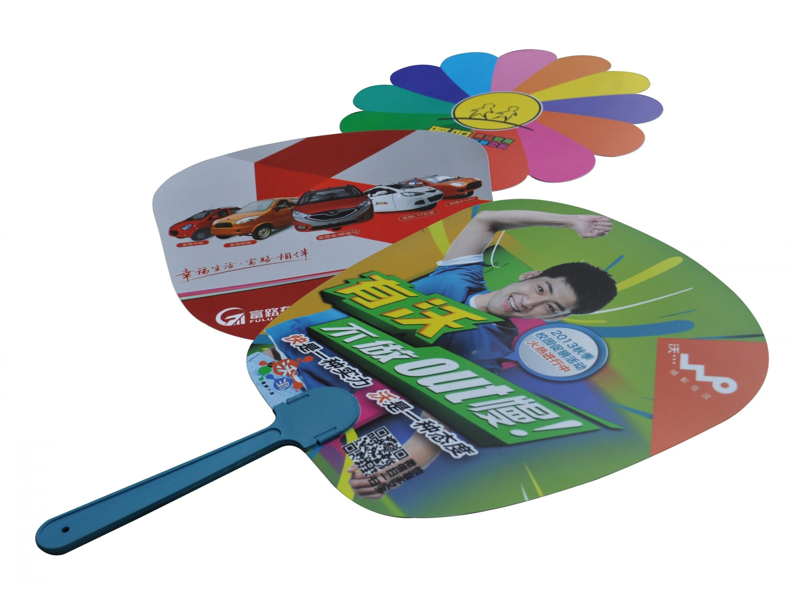 Shaped Hand Fans