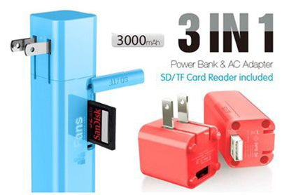 3 in 1 USB Wall Charger