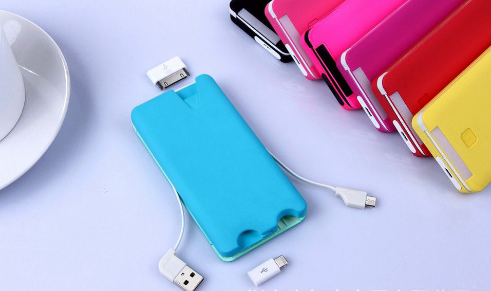 Power Bank with Built-in Cables