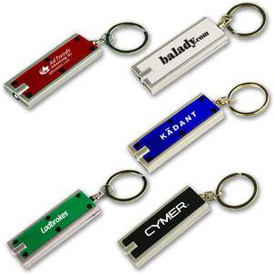 Low cost key ring with light