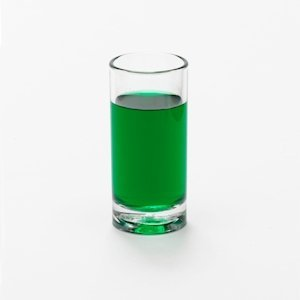 Straight sided reusable shot glass