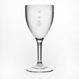 Tough and Reusable Polycarbonate Plastic Wine Glass