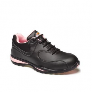 Black and Pink Ladies Safety Trainers