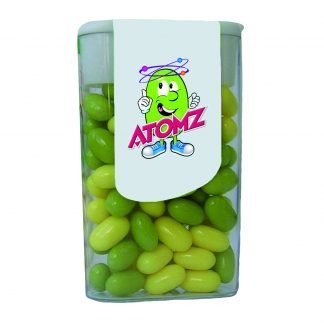 Large fruit or mint sweets with flip top lid