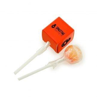 Cube packaged lollipop