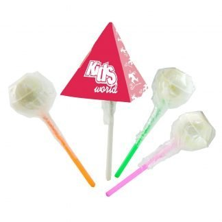 Pyramid packaged lollipop