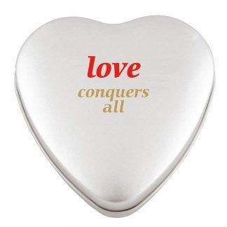 Heart sweet tin large