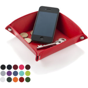 Belluno Pu Coin Key And Misc Desk Tidy Tray