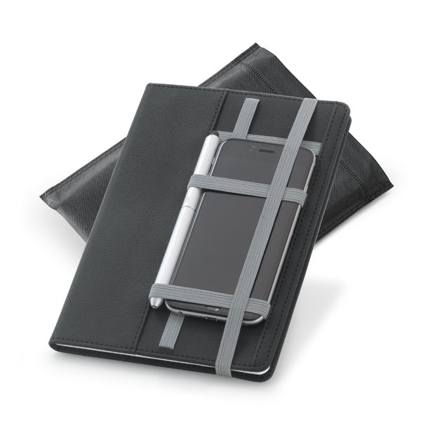 Notebook with strap