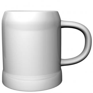 White Stoneware Mug Shot Glass
