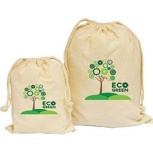 Natural Drawstring Bag