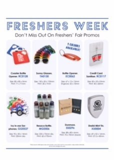 Fresher Fayre Promo Items