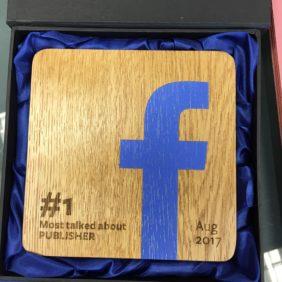 Wooden Facebook Award