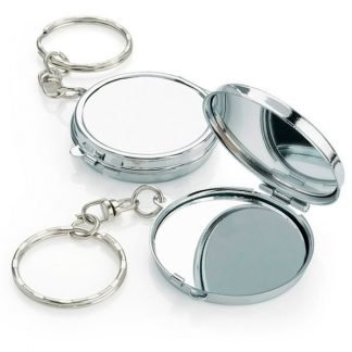 Branded Compact Mirror Keyring