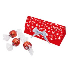 Lindt Lindor Chocolate Promotional Triangle Box