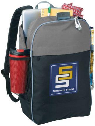 """15.6"""" laptop backpack, solid black / grey"""