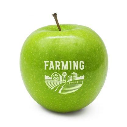 Green Printed Apples