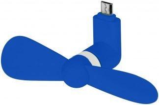 Micro USB Fan in blue Single