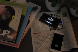 Light-Up Promotional Power Bank being Used