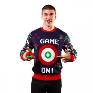 3D Ball and Velco Bullseye Christmas Jumper