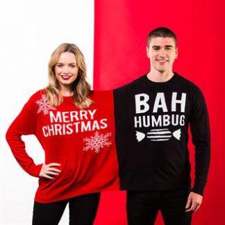 Promotional Work Bestie Christmas Jumpers - Merry Christmas / Bar Humbug