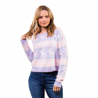 Nordic Boxy Style Christmas Jumper
