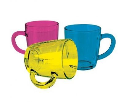 AntiBug Colour Coat Glass Mug