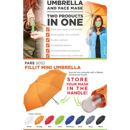 Umbrella And Face Mask In One