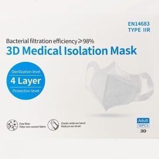 3D Medical Masks Box of 50