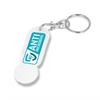 Antimicrobial Trolley Stick Oblong Keyring