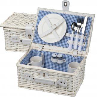 White Picnic Basket