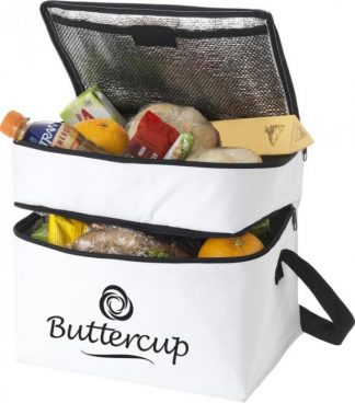 2 Zippered compartments cooler bag