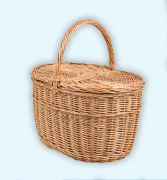 Small Oval Lidded Picnic Basket
