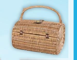 Oval Picnic Wicker Basket