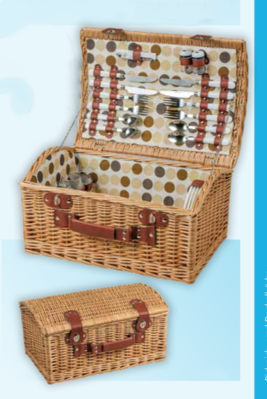 Oxford Picnic Wicker Basket