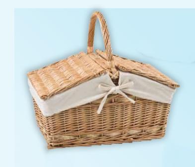 Rectangular Lidded Picnic Basket