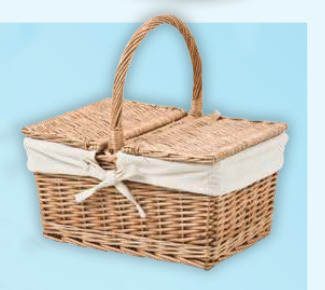 Country Double Lidded Picnic Basket