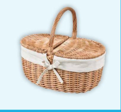 Hamilton Wicker Basket