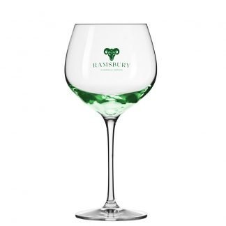 Branded Gin Glass Goblet With Green Base