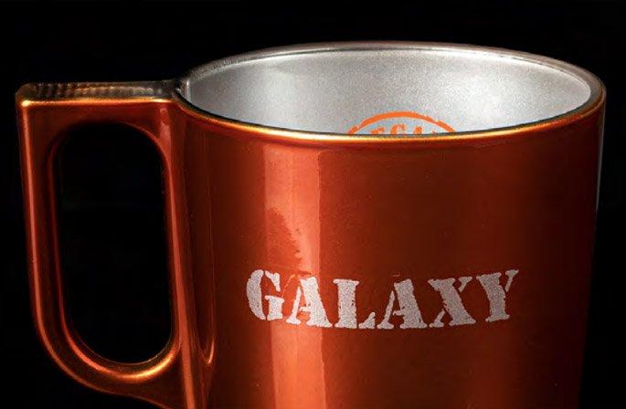 Galaxy Print On Glass Example