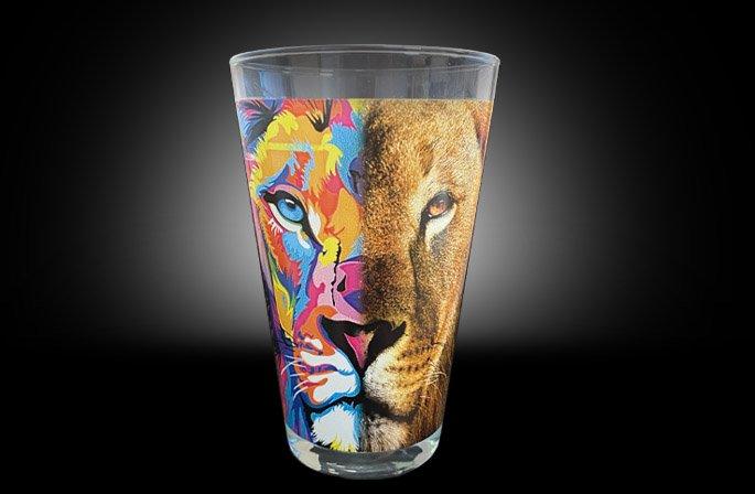 Premium Print On Glass Example
