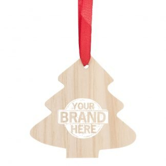 Branded Promotional Christmas Tree Decoration Made of Tree