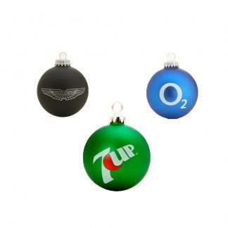 Branded Promotional Glass Baubles
