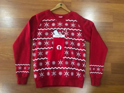 Christmas jumper with stocking on chest