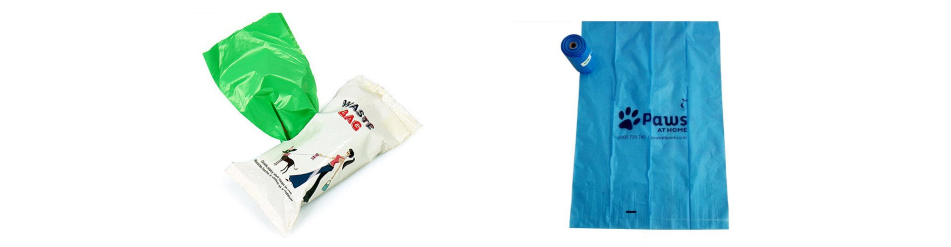 Two dog poo bags
