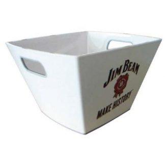 Angled ice bucket with handles